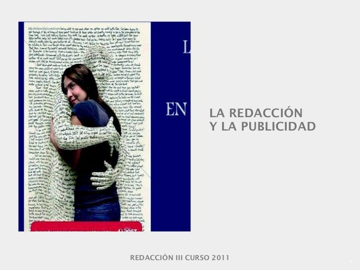 LA REDACCIÓN Y LA PUBLICIDAD