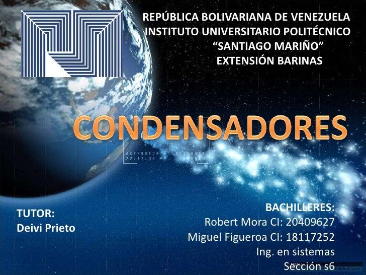 """REPÚBLICA BOLIVARIANA DE VENEZUELA<br /> INSTITUTO UNIVERSITARIO POLITÉCNICO<br />                """"SANTIAGO MARIÑO""""<br /&g"""