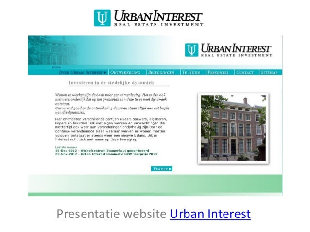 Presentatie website Urban Interest