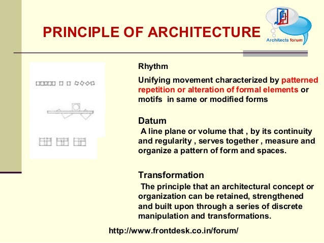 Tod principle of architecture for Define architect
