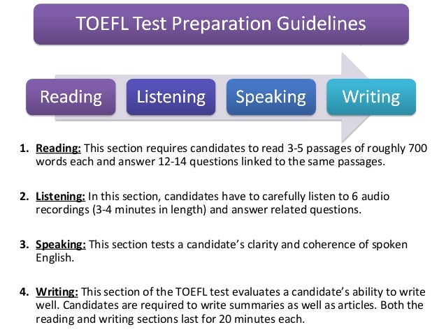 TOEFL TEST Preparation and Scoring Guidelines