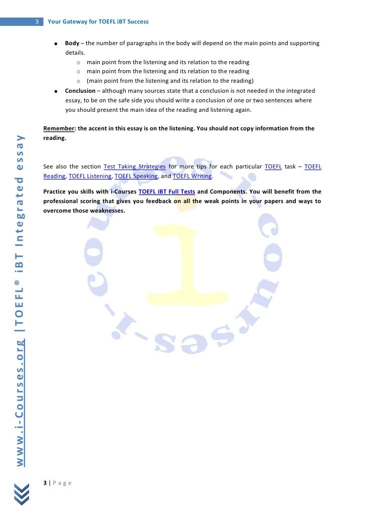 integrated essay sample