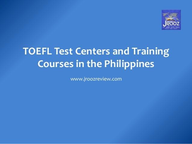 TOEFL Test Centers Philippines