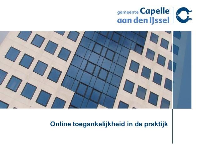 Online toegankelijkheid in de praktijk