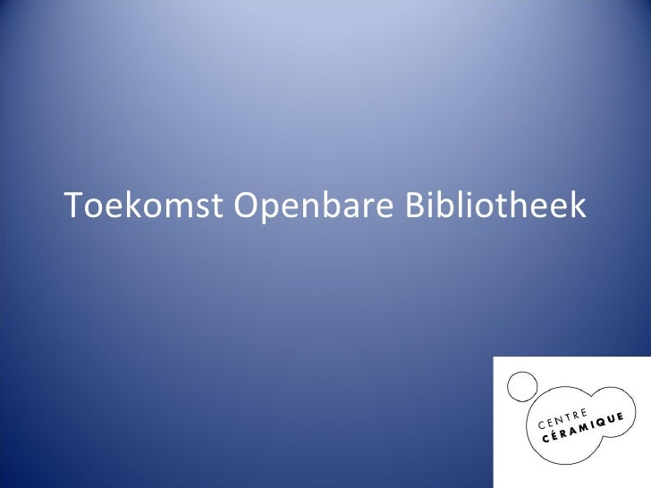 Toekomst Openbare Bibliotheek