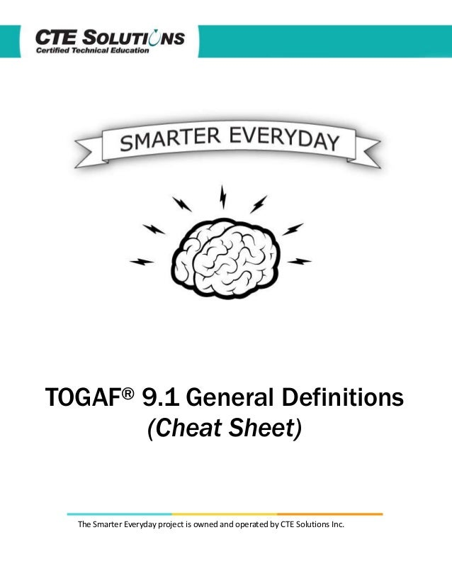 TOGAF 9.1 Definitions by CTE Solutions