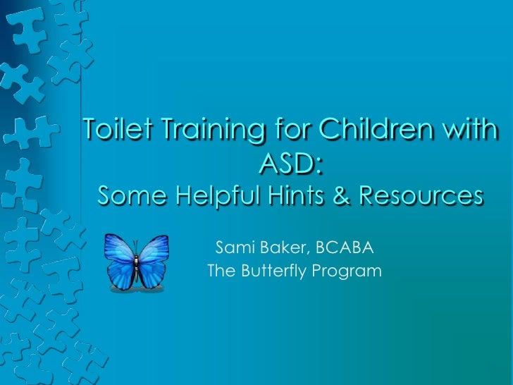 Toilet training for children with asd presentation