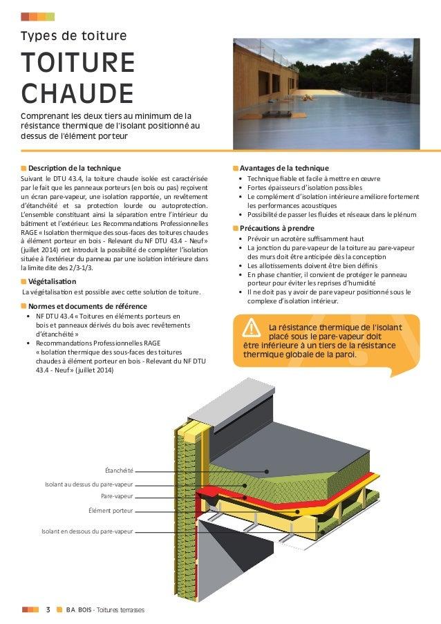Toiture terrasse chaude et v g talisation cndb codfab for Isolation toiture terrasse