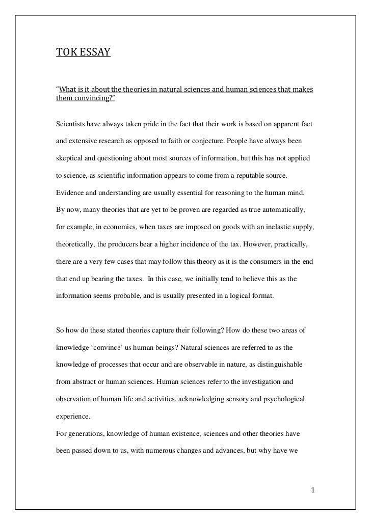 Tok essay example 2012