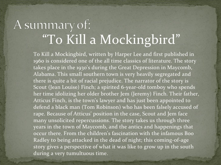 a time to kill book report To kill a mockingbird is a time capsule, preserving hopes and sentiments from a kinder, gentler, more naive america it was released in december 1962, the last month of the last year of the complacency of the postwar years.