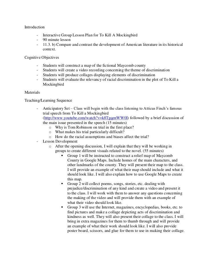 essay kill mockingbird topic