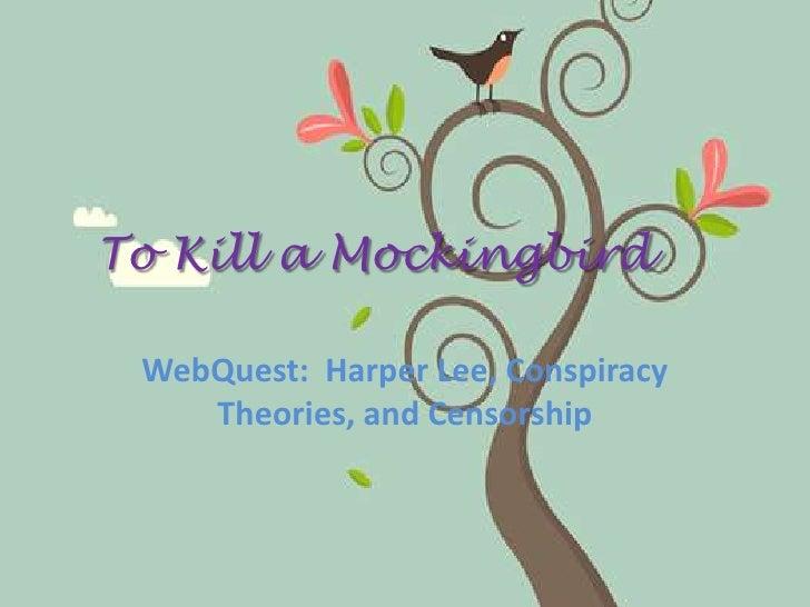 To Kill A Mockingbird Web Quest 1