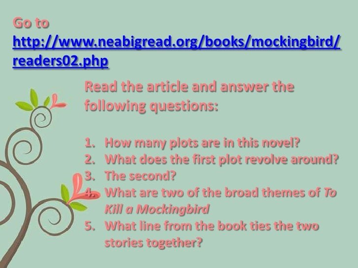 To Kill a Mockingbird Study Questions Answers
