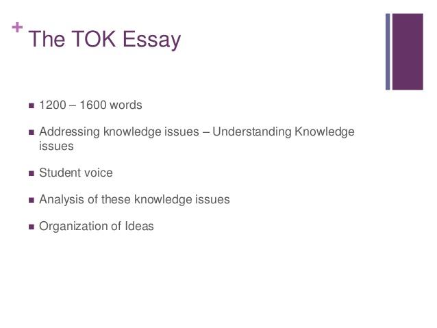 Ib tok essay online submission