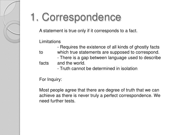 an essay on the correspondence theory of truth Related correspondence theory of truth an essay on the metaphysics of predication free ebooks - re get solutions manual der keiler gallipoli the landing the rainbow.