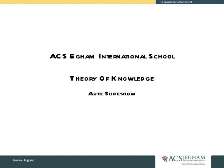 Theory Of Knowledge Auto Slideshow