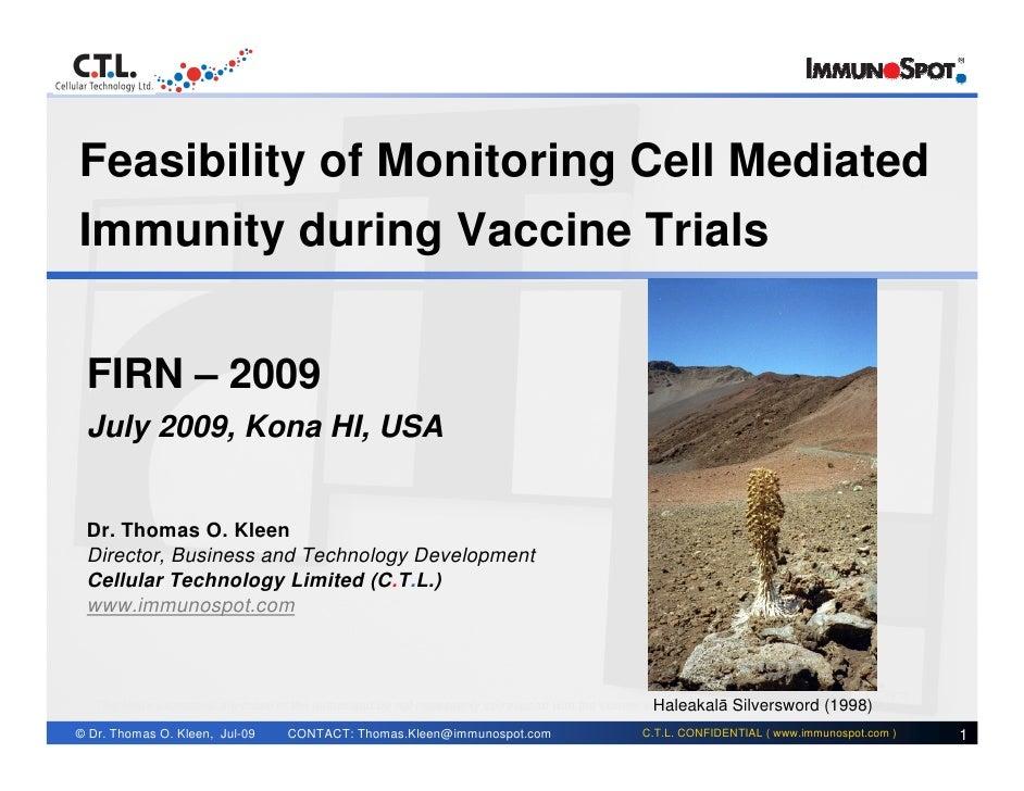 Featured Presentation FIRN Kona 2009