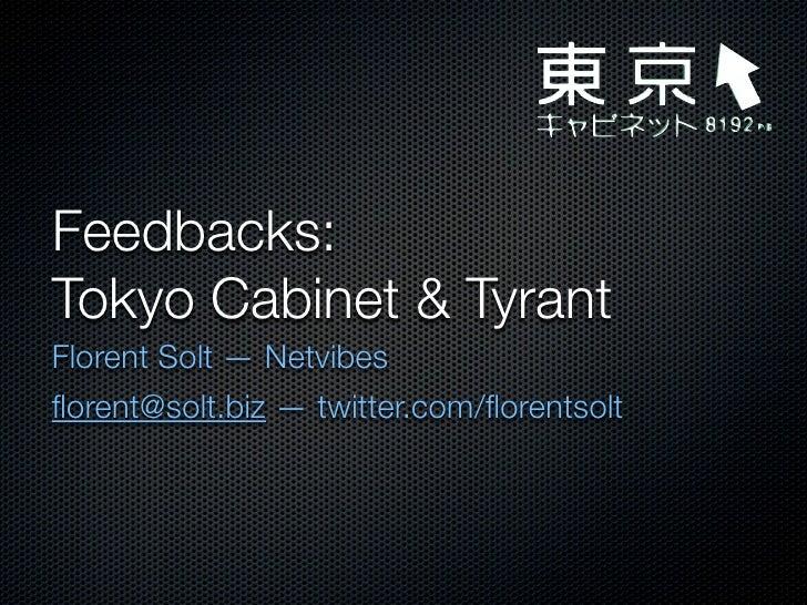 Tokyo Cabinet / Tyrant @ Nosql Paris