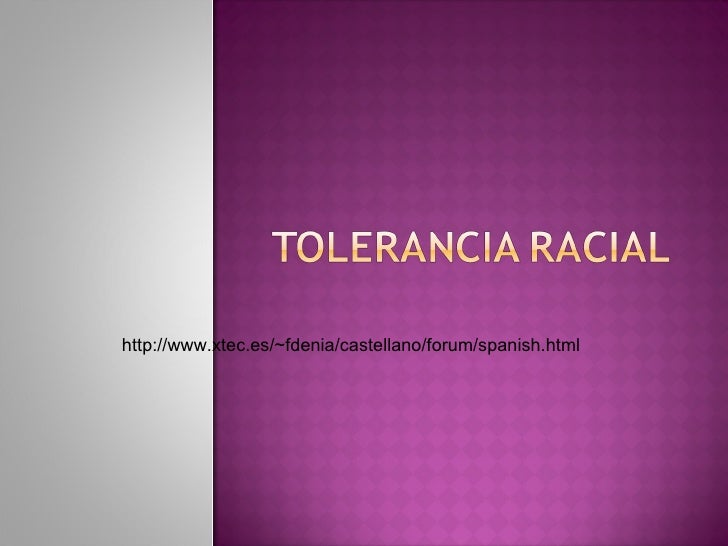 Tolerancia Racial Rebeca