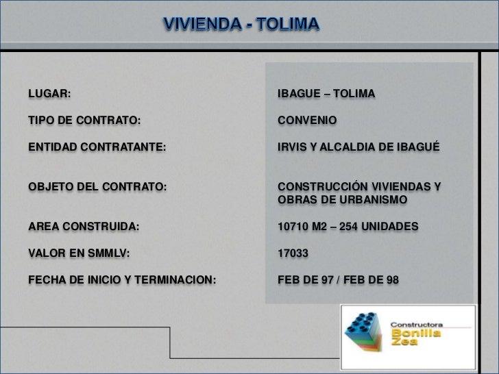 LUGAR:                           IBAGUE – TOLIMATIPO DE CONTRATO:                CONVENIOENTIDAD CONTRATANTE:             ...