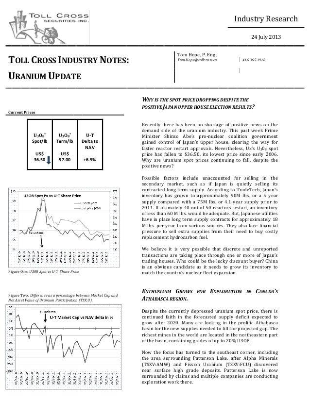 Toll Cross Industry Note: Uranium Update (July 24, 2013)