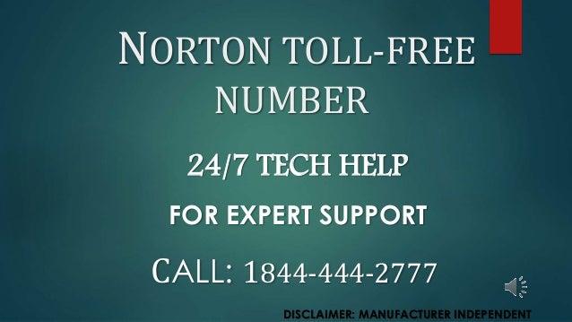 Toll Free 1844 444 2777 Norton Tollfree Number