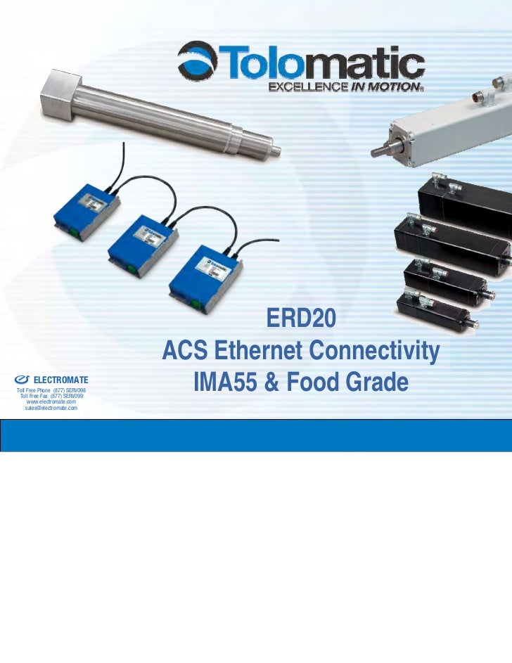 ERD20& Serviced By:                                          ACS Ethernet Connectivity                 ELECTROMATE        ...