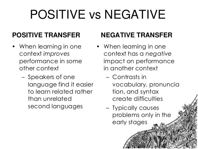 what is negative effect of learning english The study of figurative or metaphorical expressions in the efl environment is limited compared with that in english as a second language (esl), mainly due to learners' poor accessibility to the language as a matter of fact, efl learners have fewer opportunities to access english in daily life than have those who learn it as.