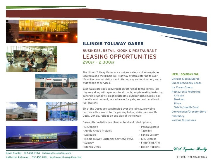 The Illinois Tollway Oases Leasing Opportunities