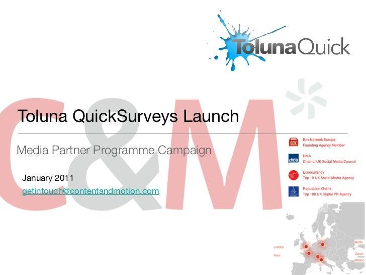 Toluna Media Partnership Social PR Case Study