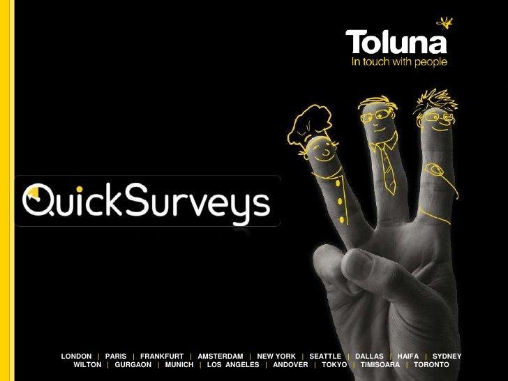 Toluna Quick Surveys