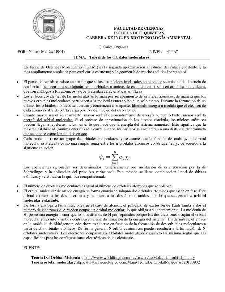 FACULTAD DE CIENCIAS                                                    ESCUELA DE C. QUÍMICAS                            ...