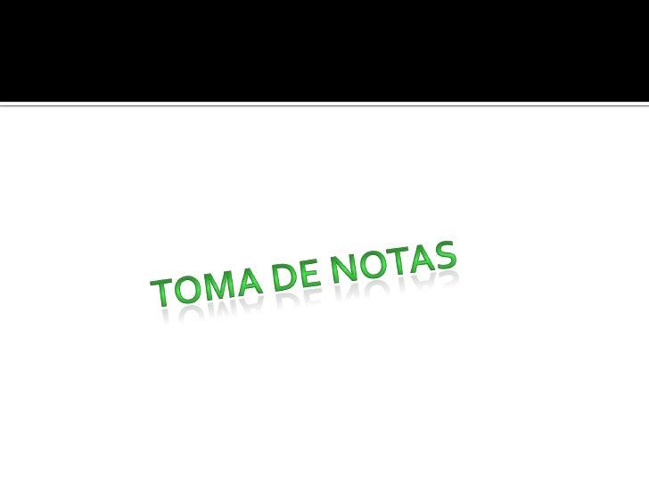 Toma De Notas2pdf