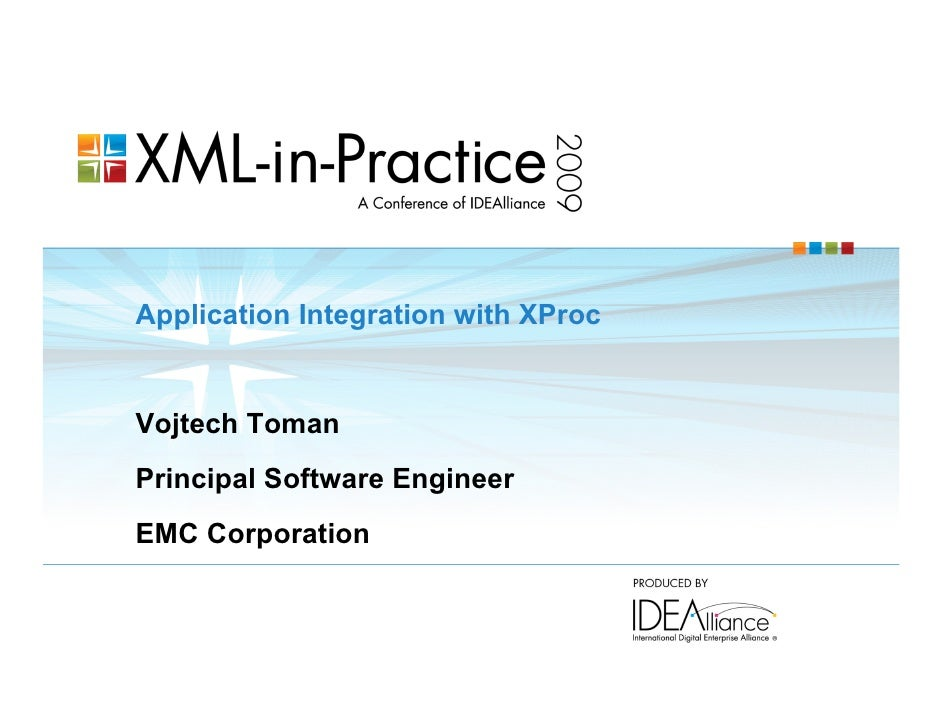 Application Integration with XProc