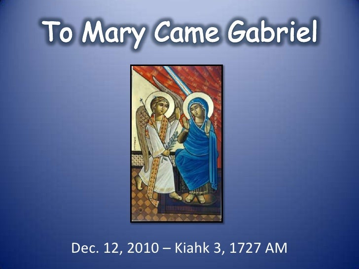 To mary came gabriel