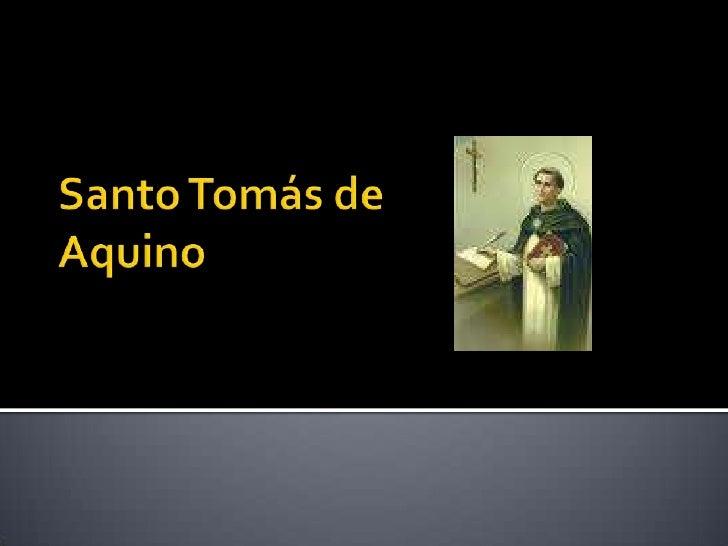 Santo Tomás de Aquino<br />
