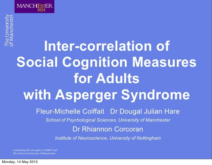 Inter-correlation of       Social Cognition Measures                for Adults        with Asperger Syndrome              ...