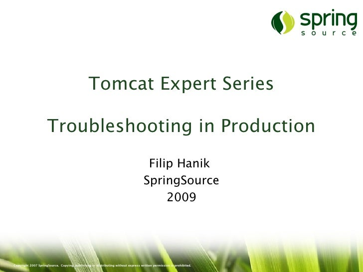 Tomcatx troubleshooting-production