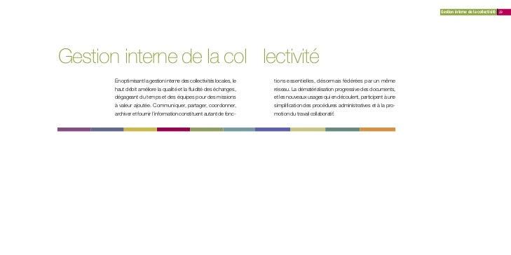 Gestion interne de la collectivité 29Gestion interne de la col lectivité       En optimisant la gestion interne des collec...