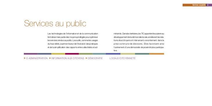 Services au public 69Services au public                 Les technologies de l'information et de la communication          ...