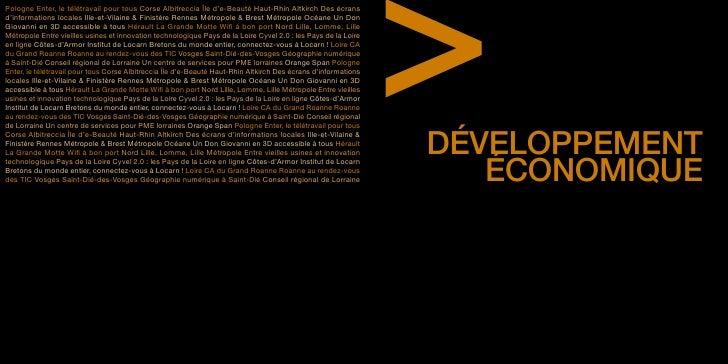 Tome 5 : Développement économique