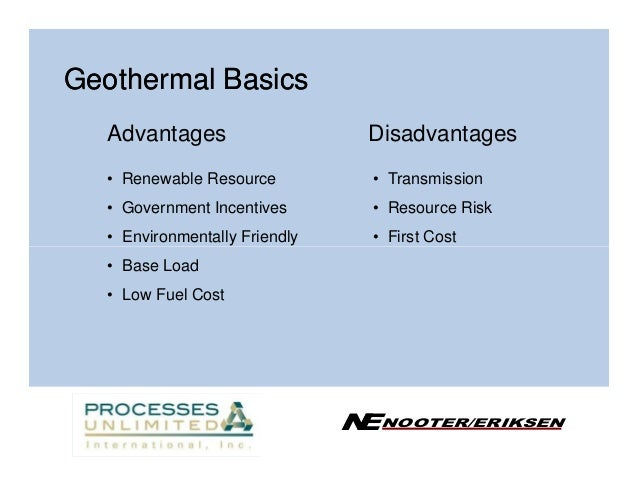 Geothermal Energy Advantages Or Disadvantages - Info