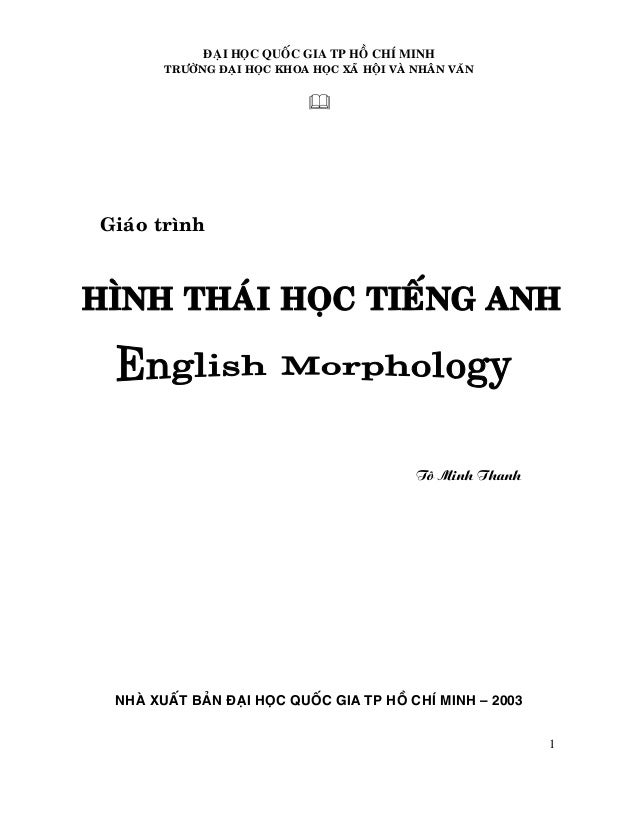 Morphology by To Minh Thanh