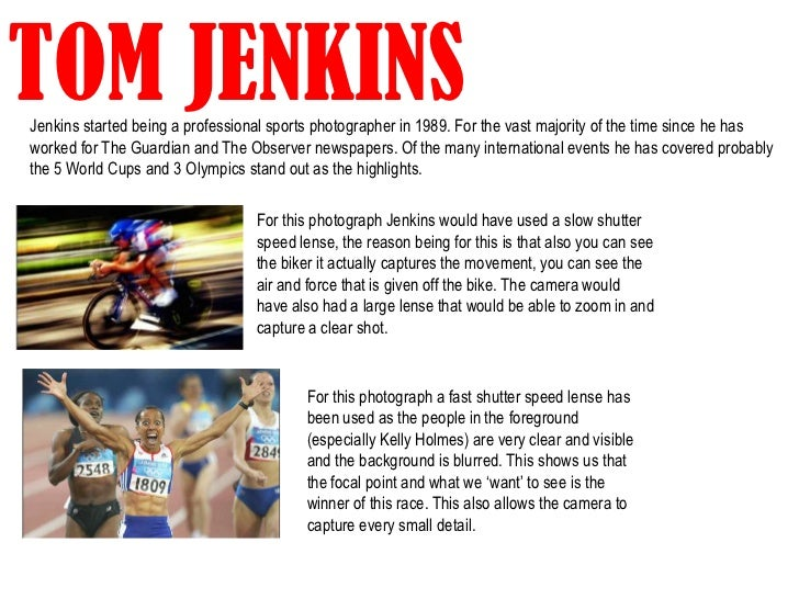TOM JENKINSJenkins started being a professional sports photographer in 1989. For the vast majority of the time since he ha...