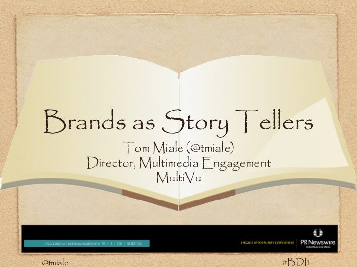 The Brand as a Story Teller