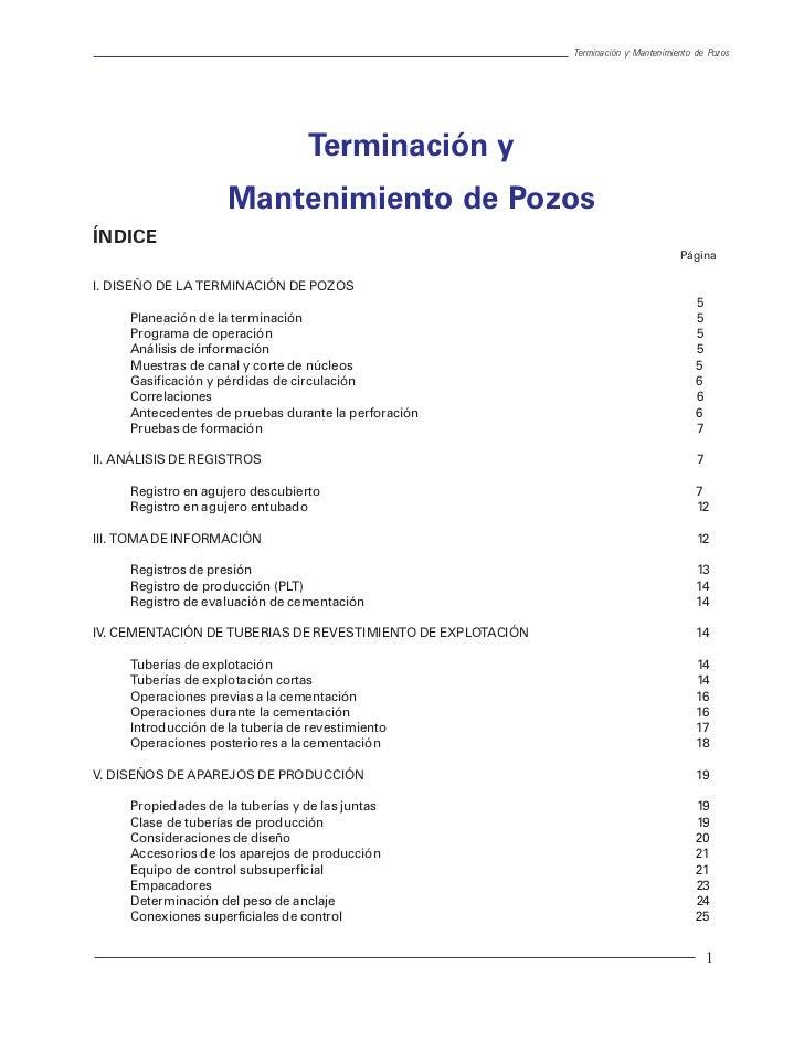 Terminación y Mantenimiento de Pozos                                  Terminación y                     Mantenimiento de P...