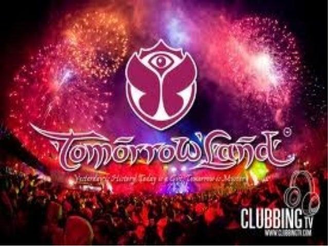 ● Tomorrowland es un festival demúsica electrónica organizadocada año desde 2005 en elpueblo de Boom en Bélgica. Losprimer...