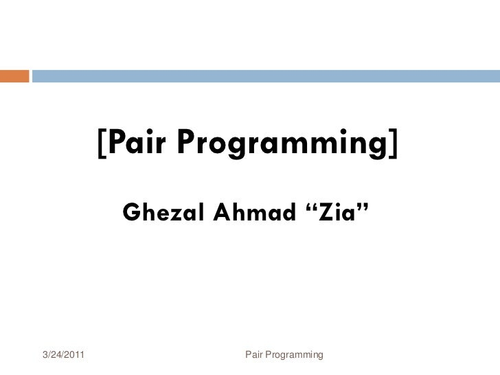 How does pair programming work?