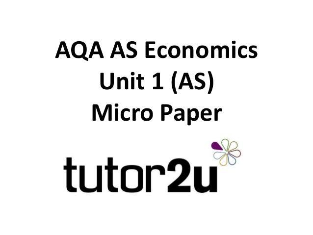 Advice for the AQA AS Economics Unit 1 (ECON1)