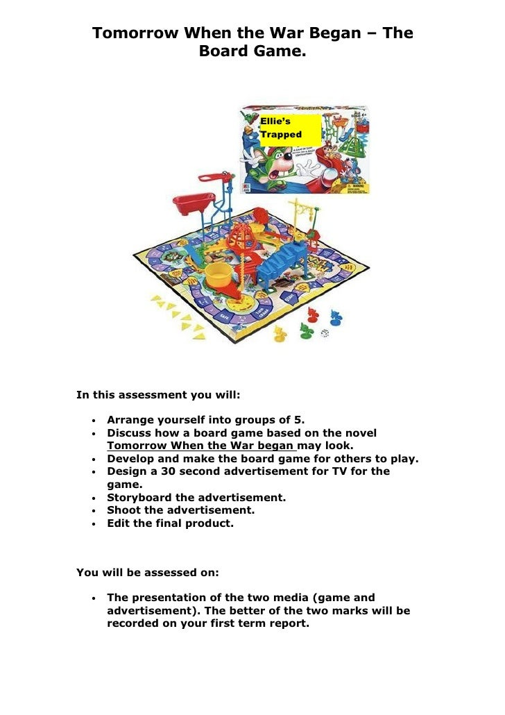 Tomorrow When the War Began – The             Board Game.                                   Ellie's                       ...